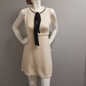 Zara Dress Boucle M BEIGE